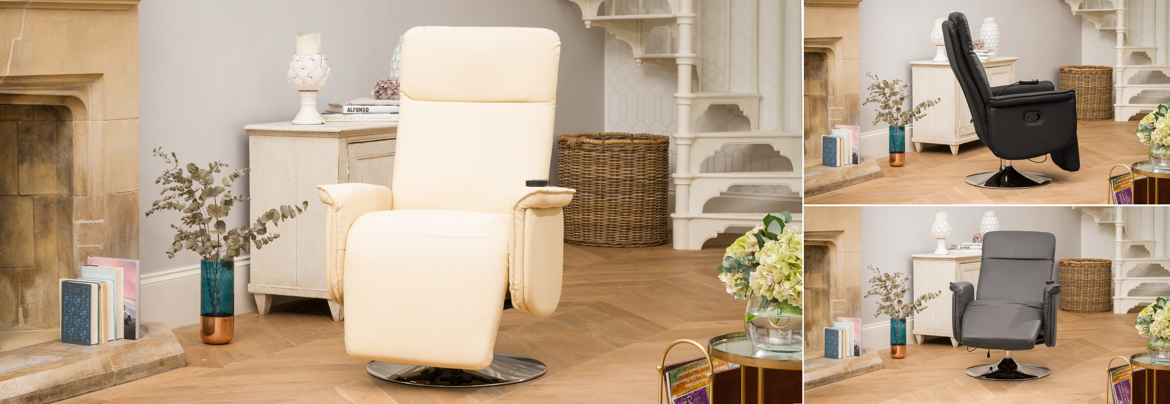 Keswick Recliner Chair with Heat & Massage Cream