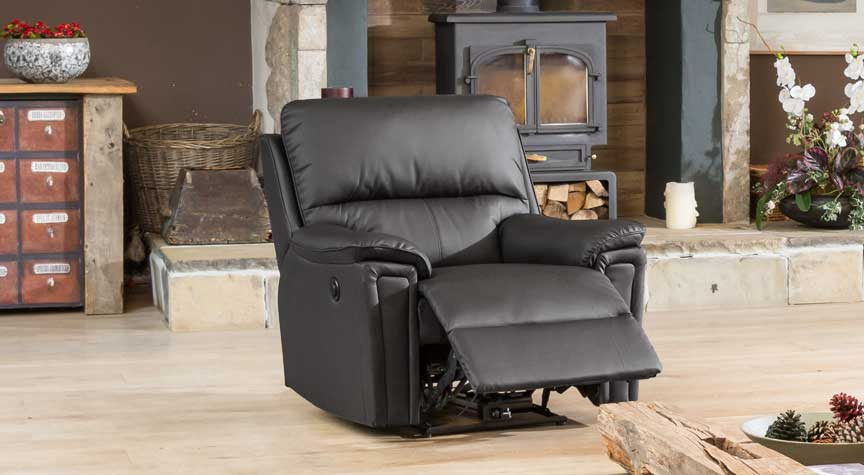 Radstock electric reclining armchair black