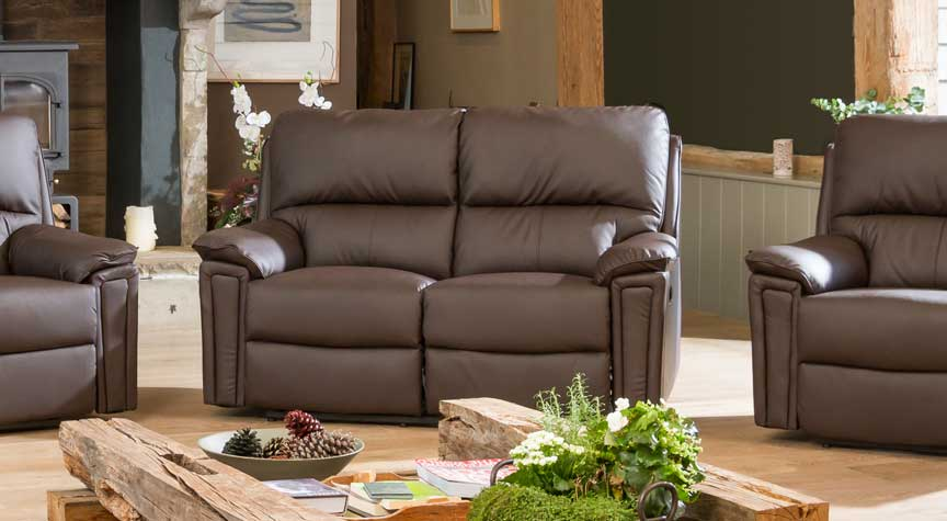 Radstock 2 seat electric recliner brown