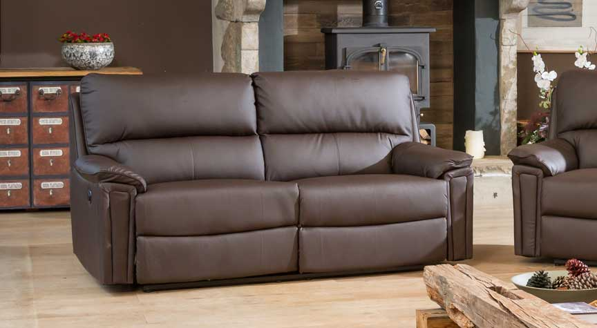 Radstock 3 seat electric recliner brown