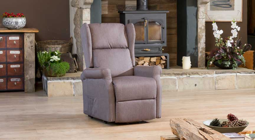 Sandhurst Riser Recliner Heat & Massage Dark Grey