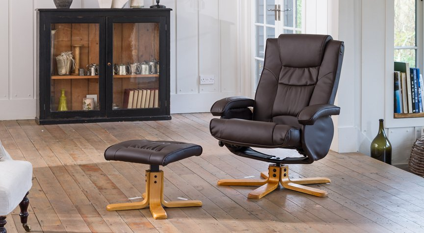 Amberley Massage With Heat Swivel Chair Brown