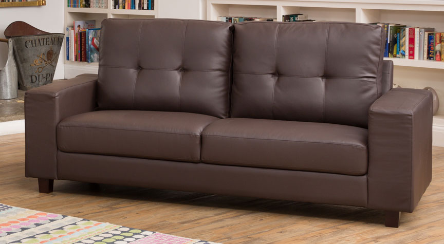 Ashdown 3 Seat Sofa Brown