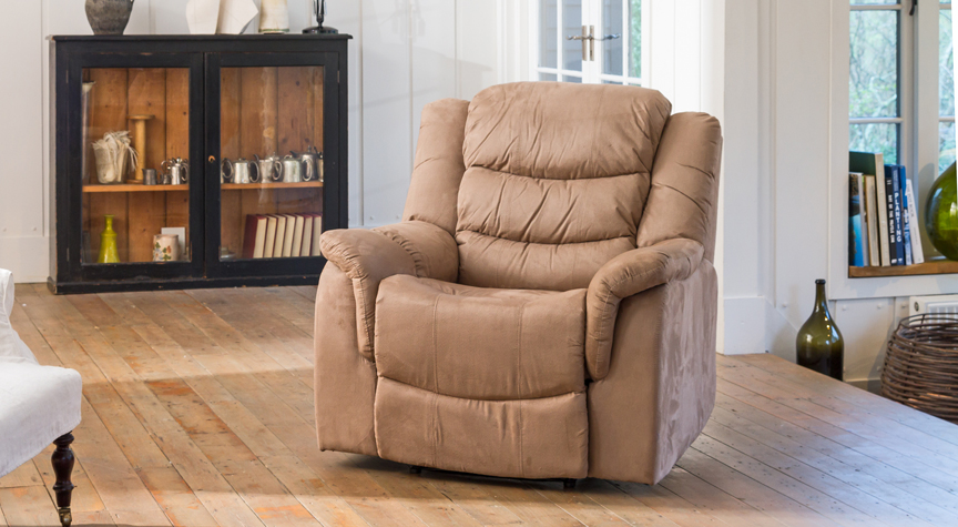 Asquith electric armchair light brown