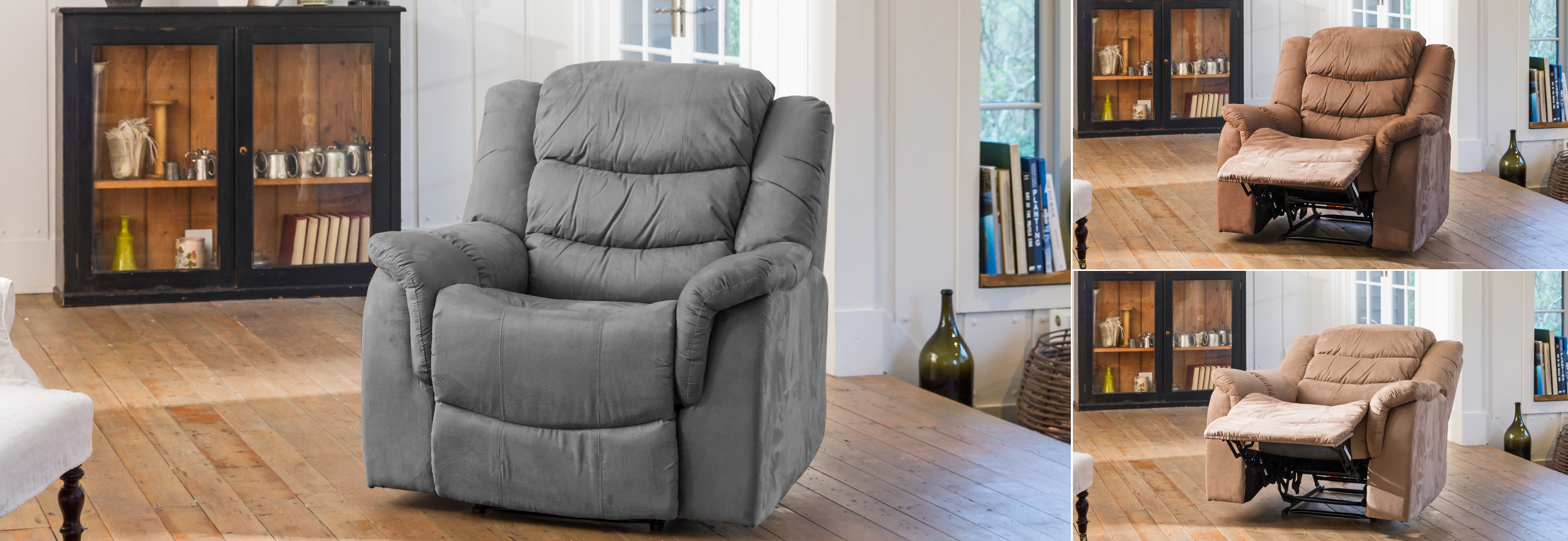 Asquith Electric Recliner charcoal