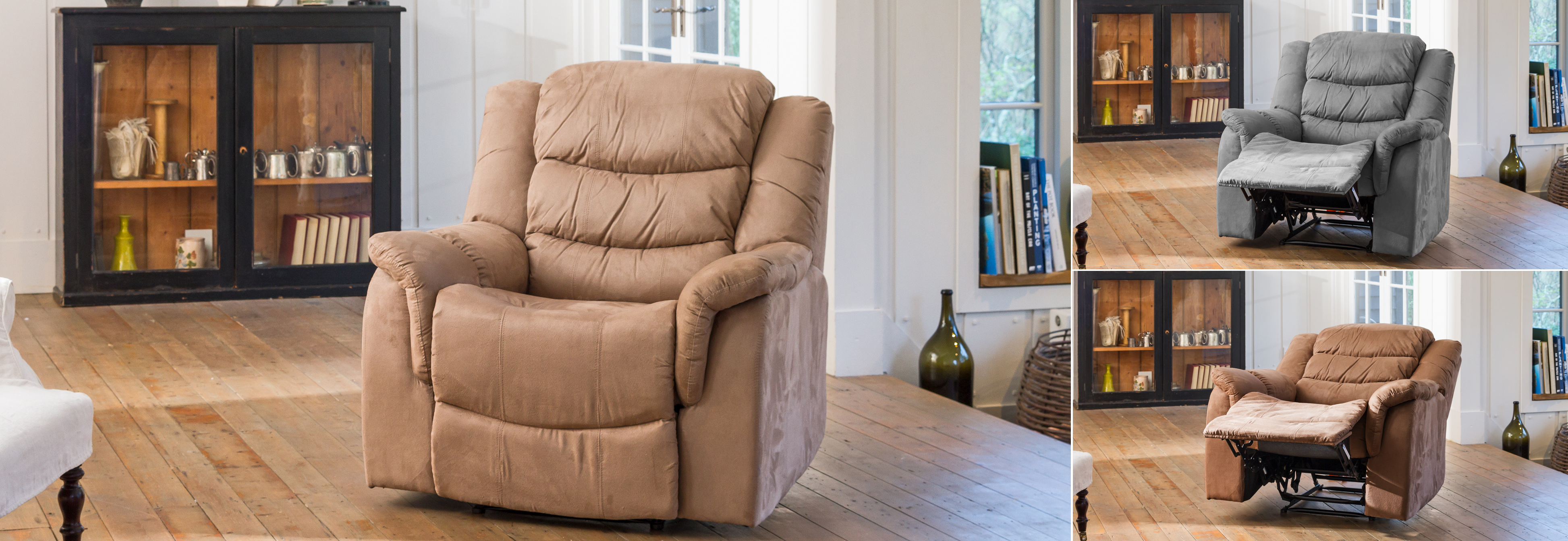 Asquith Electric Recliner light brown
