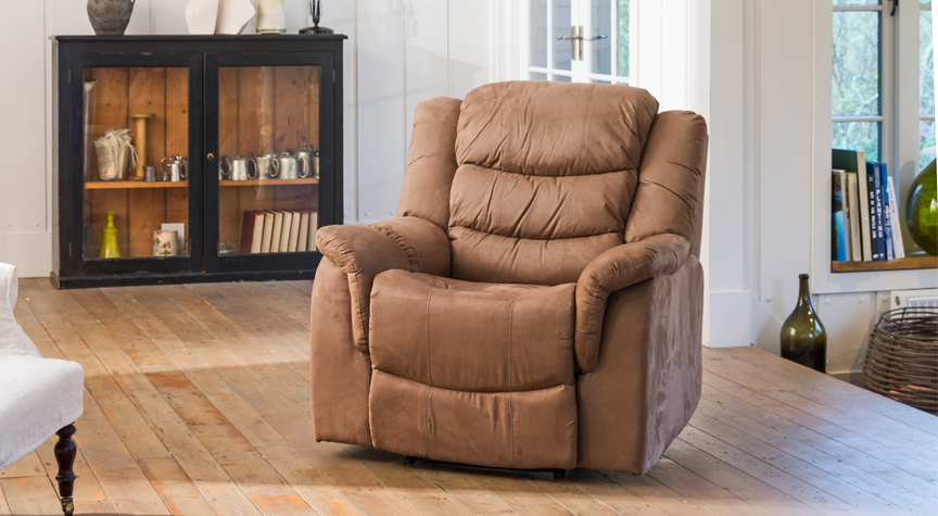 Asquith electric riser armchair mocha
