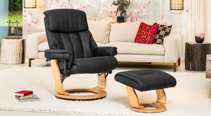 Aviemore Swivel Chair Black
