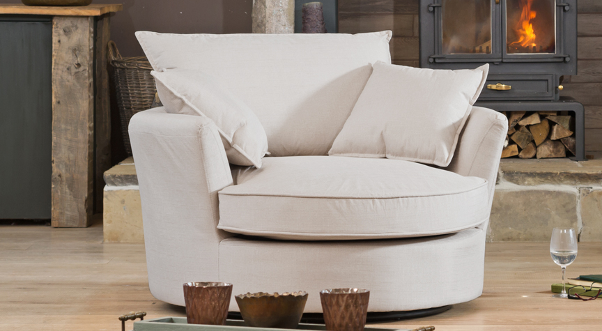 Balfour cuddle chair sand