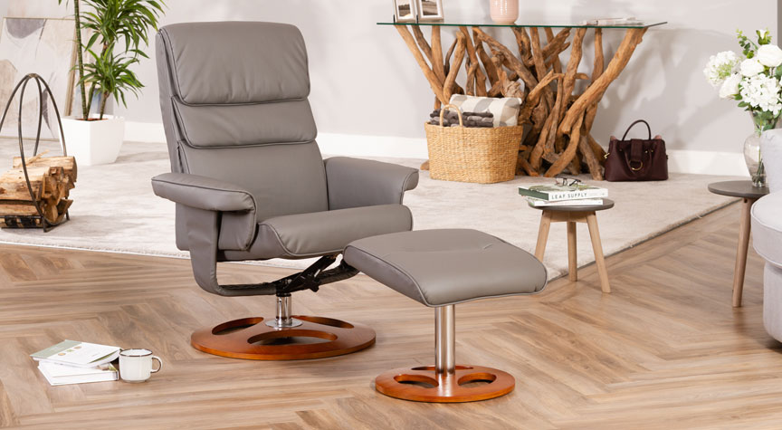 Banbury Massage with Heat Swivel Chair Grey