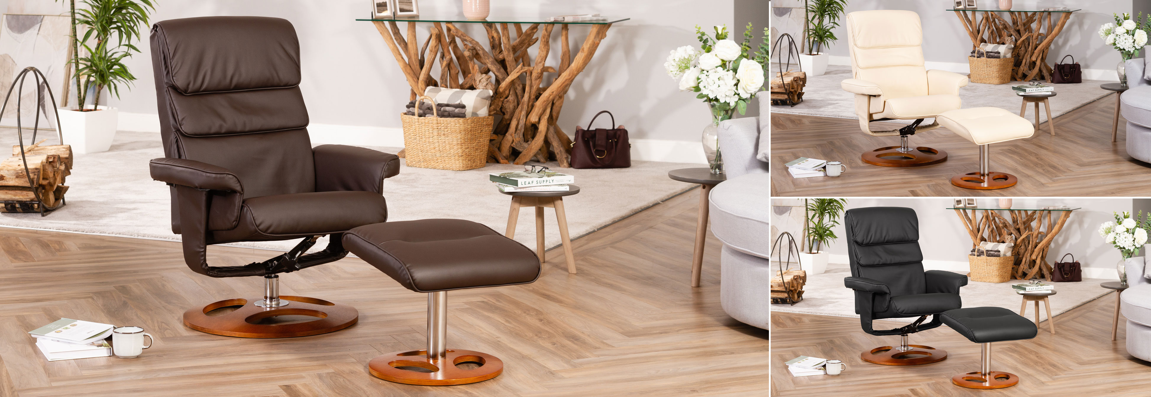 Banbury Massage and Heat Swivel Chair brown