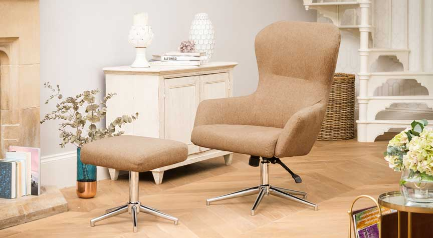Beccles Swivel Chair Barley