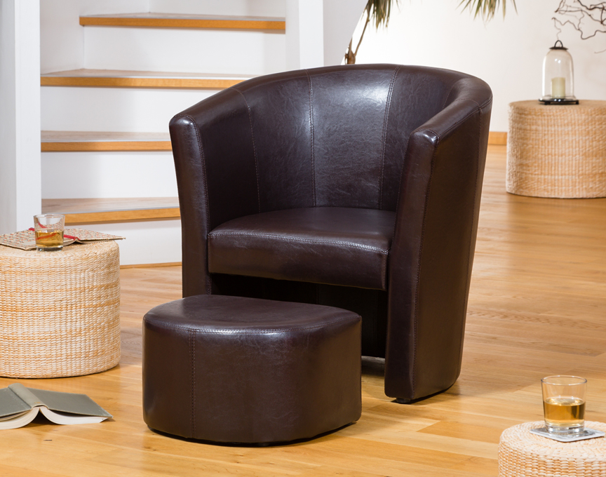 Berwick tub chair brown