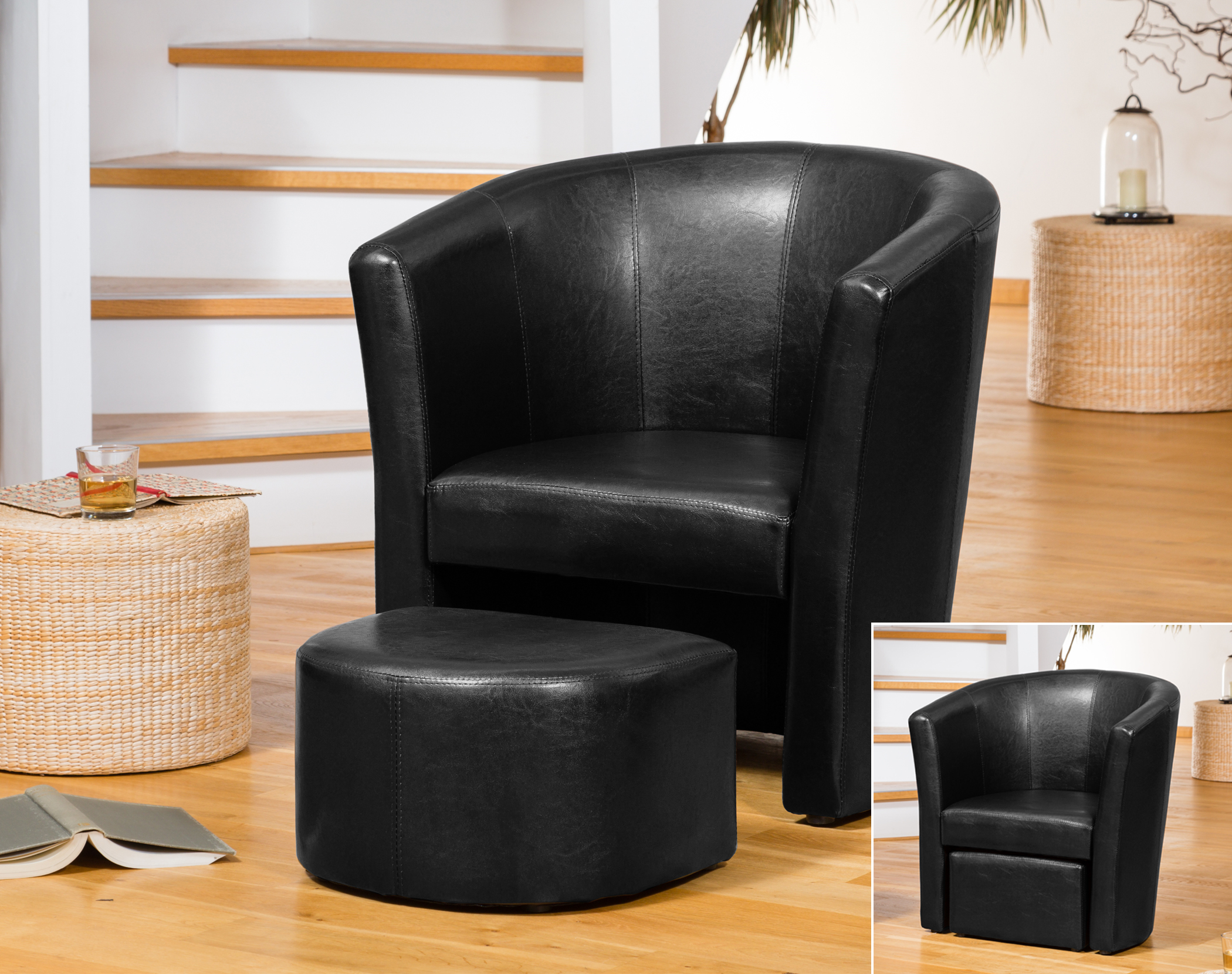 Berwick tub chair black