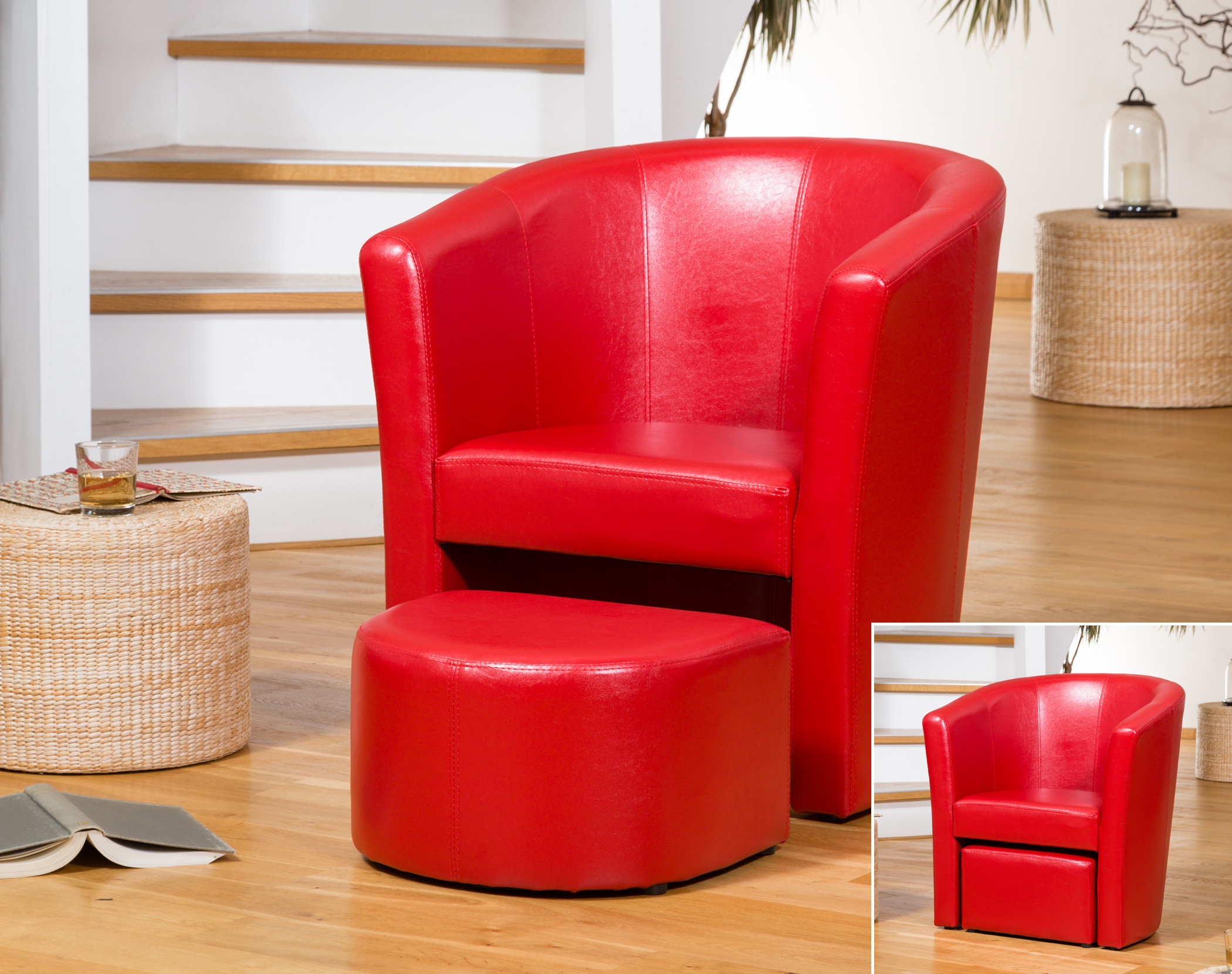 Berwick tub chair red