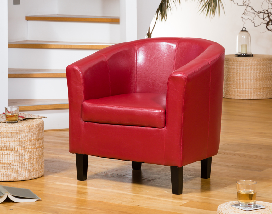 Boscombe tub chair red