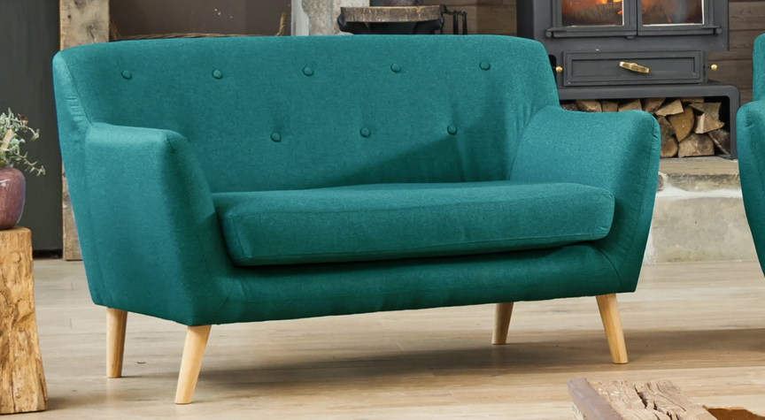Bourchier 2 seat sofa teal