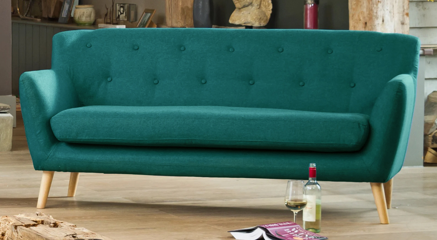 Bourchier 3 seat sofa teal