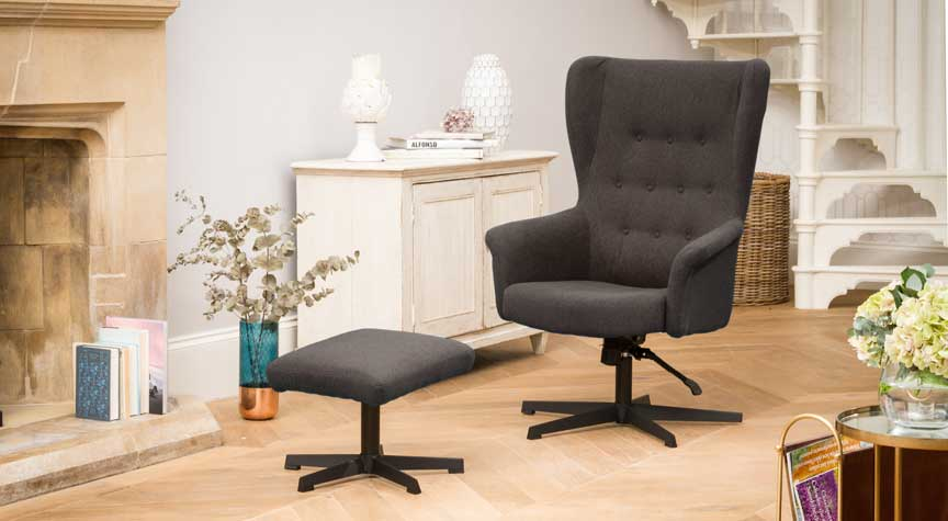 Bradninch Swivel Chair Slate
