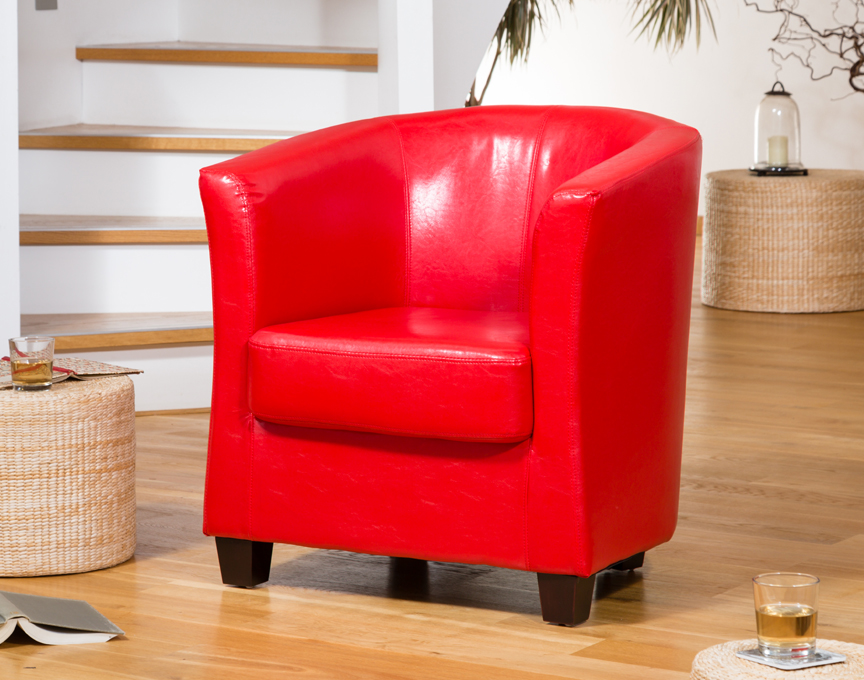 Brampton Tub Chair Red