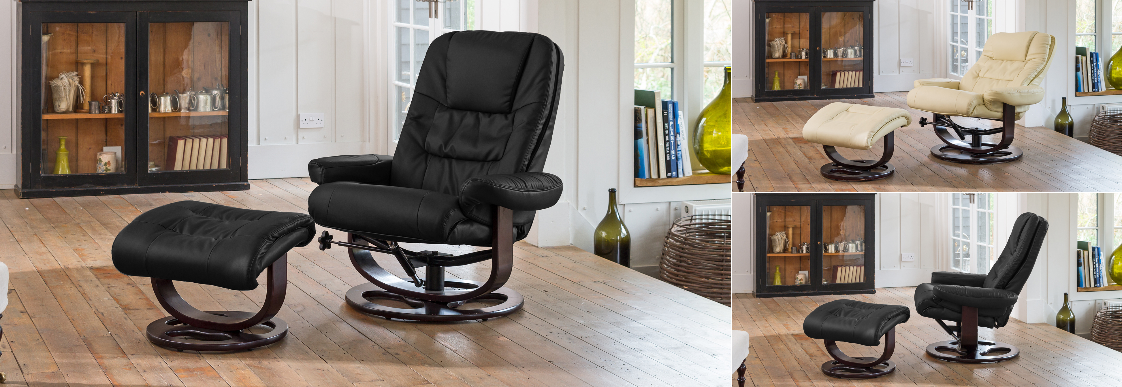 Broadclyst Swivel Chair black