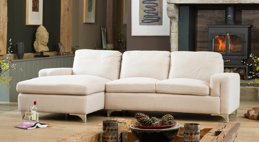 Brownlow right hand corner sofa sand