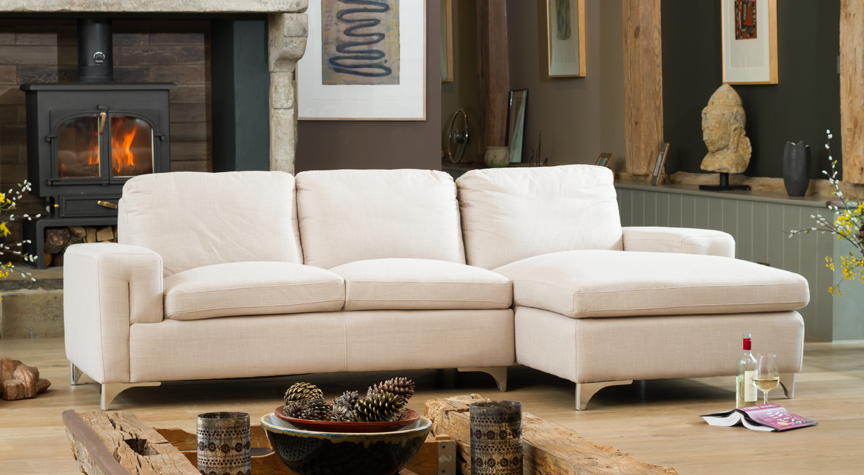 Brownlow left hand corner sofa sand