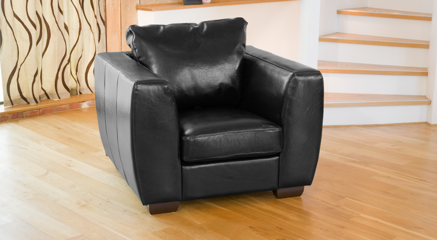 Brunswick armchair black