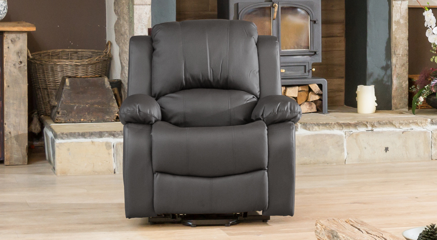 Burghley grey electric riser recliner with massage and heat