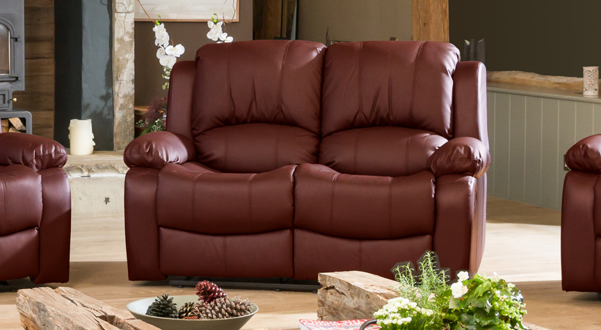 Burghley burgundy 2 seat recliner