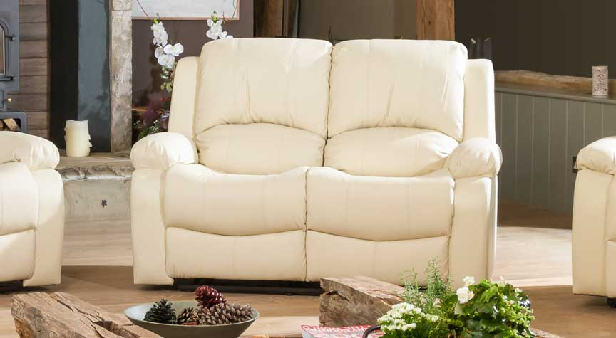 Burghley cream 2 seat recliner