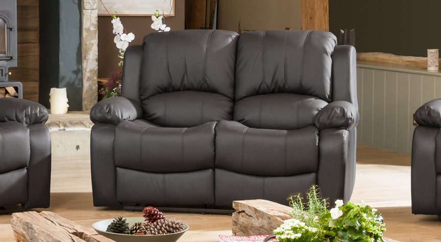 Burghley grey 2 seat recliner