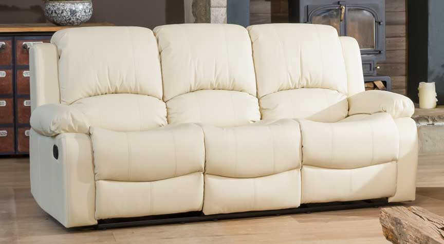 Burghley cream 3 seat recliner