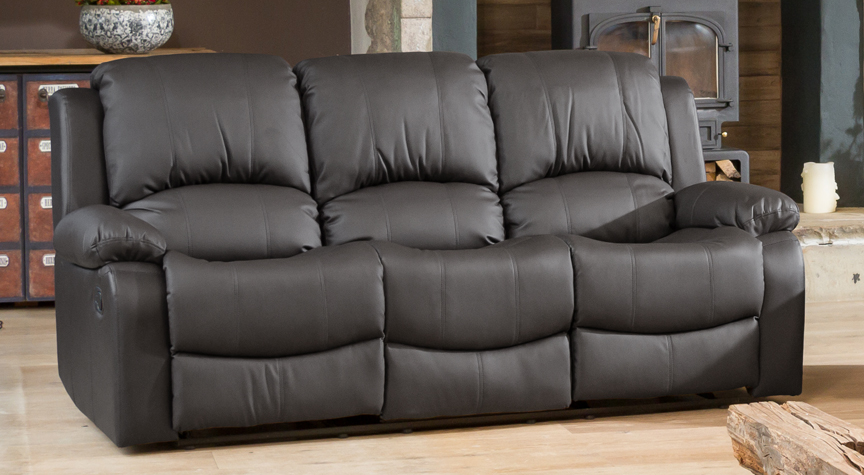 Burghley grey 3 seat recliner