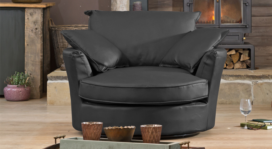 Wellesley cuddle chair black
