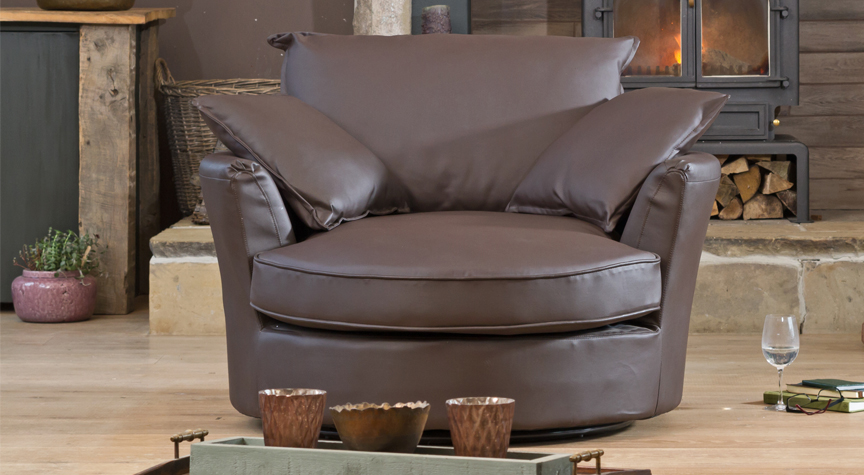 Danforth cuddle chair brown