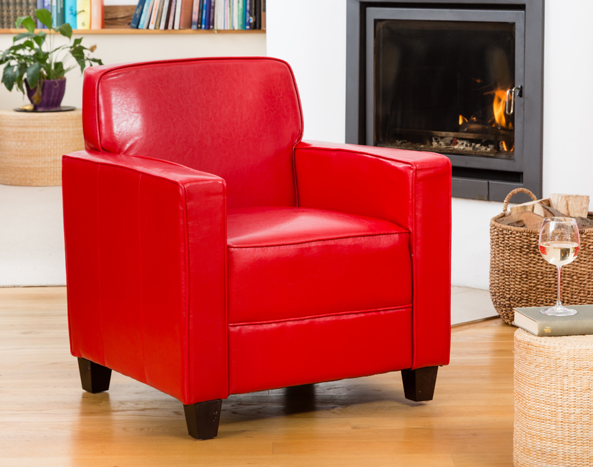 Campbell armchair red