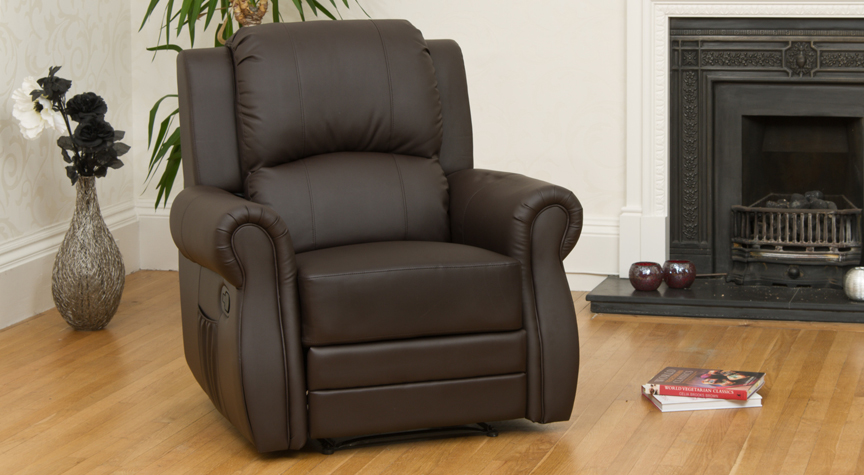 Caxton reclining armchair brown