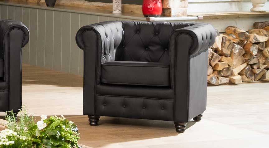 Chatteris 1 seater black
