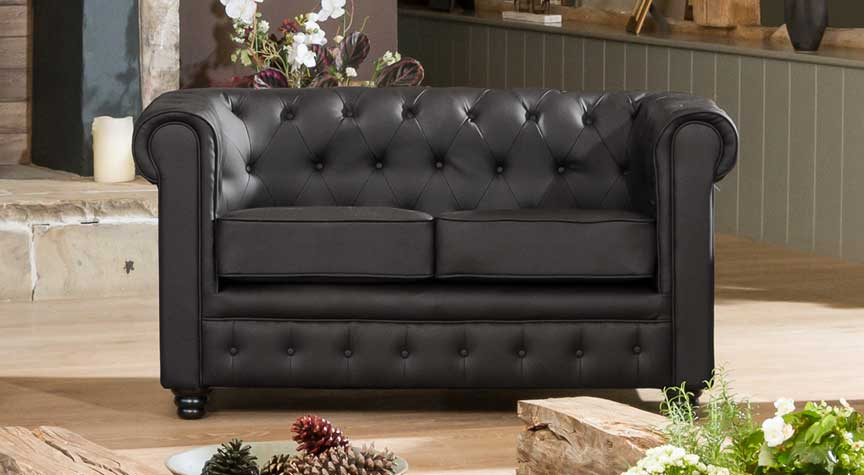 Chatteris 2 seater black