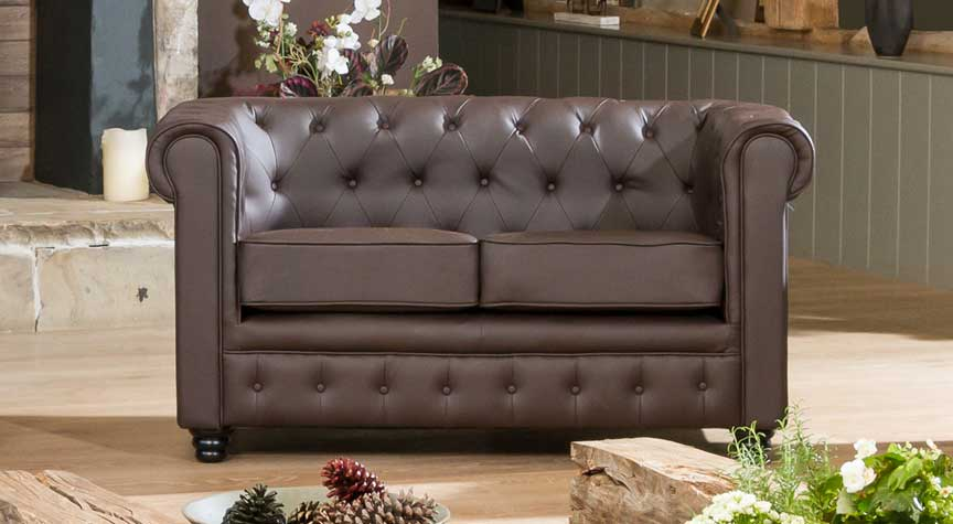 Chatteris 2 seater brown