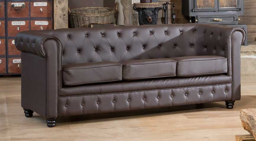 Chatteris 3 seater brown