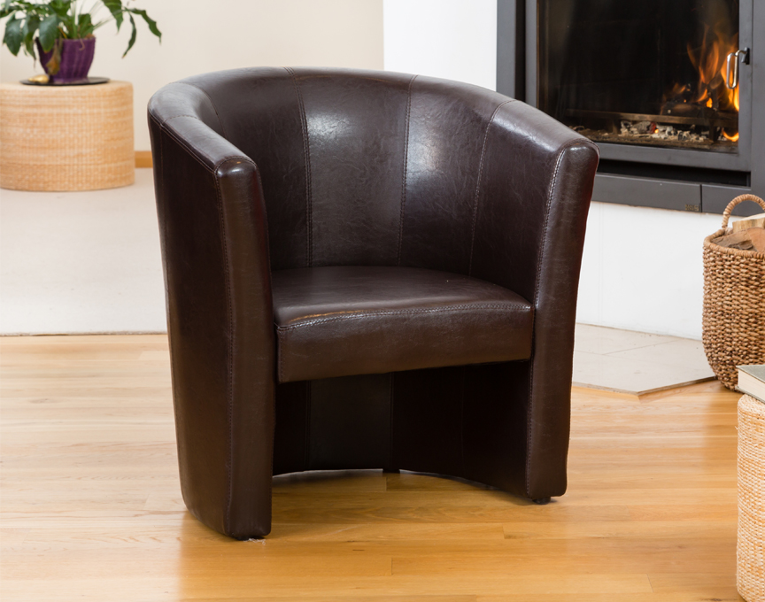 Chelston tub chair brown
