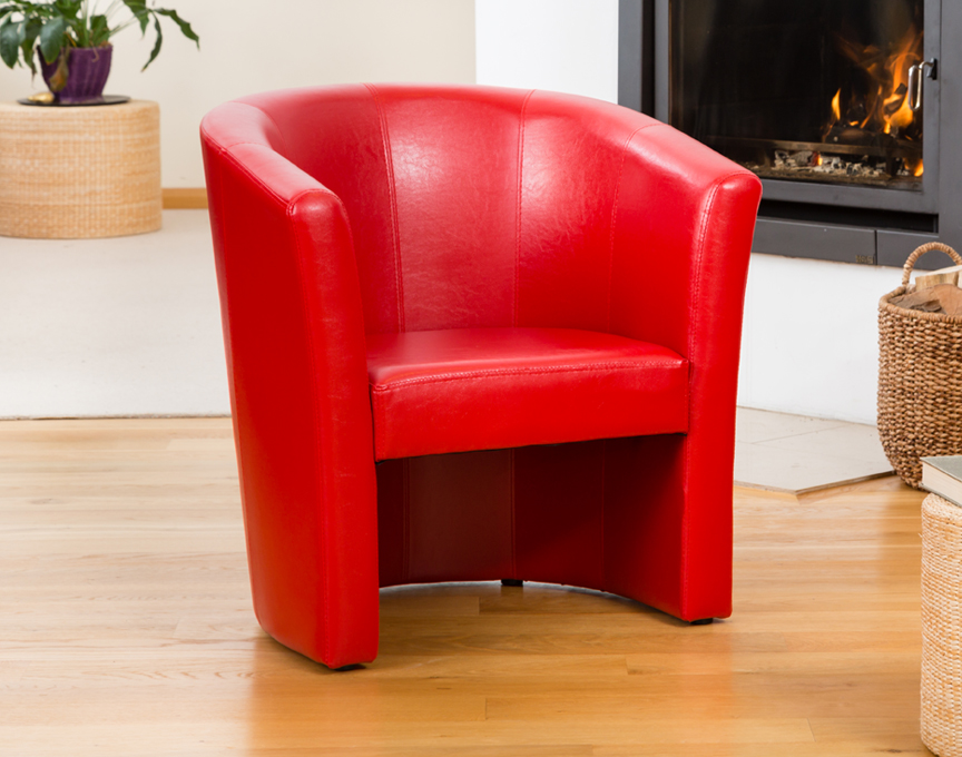 Chelston tub chair red