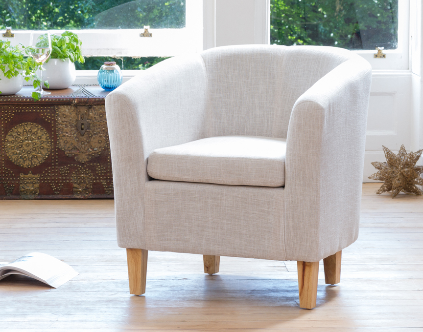Clevedon tub chair beige