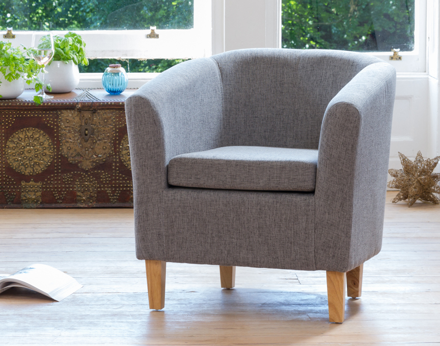 Clevedon tub chair dark grey