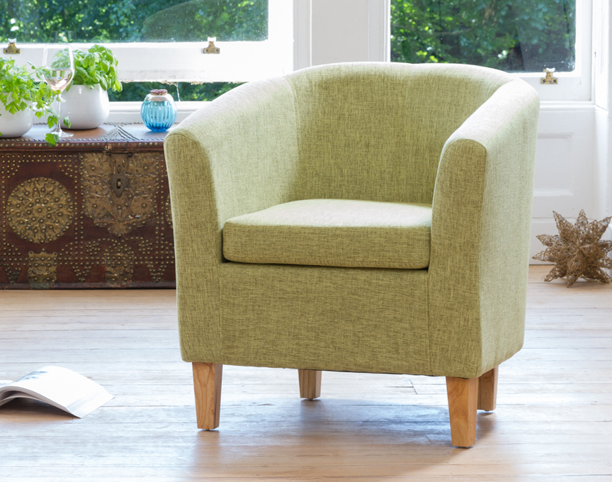 Clevedon tub chair green