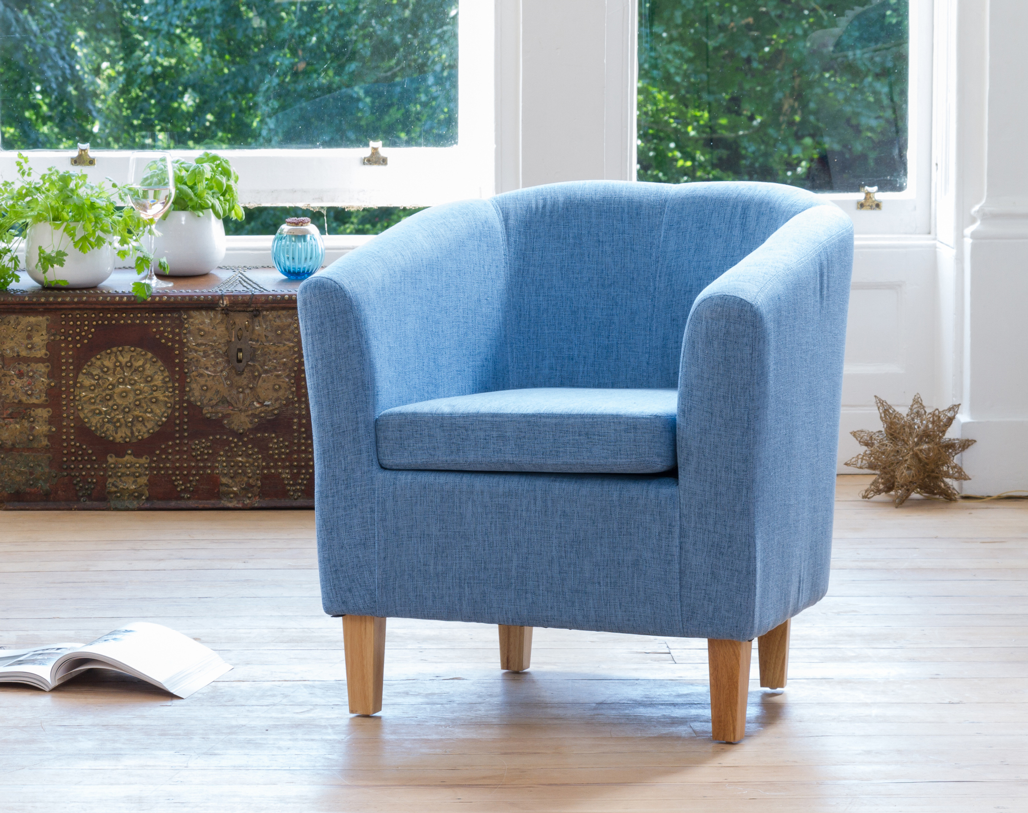 Clevedon Tub Chair blue