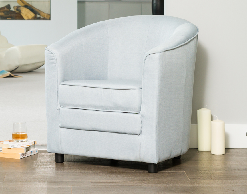 Coleford tub chair silver