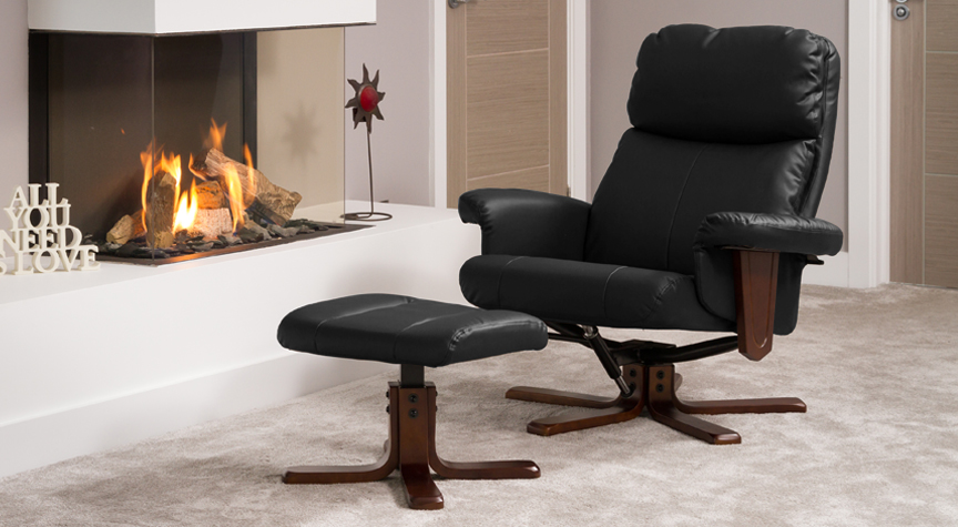 Dainton Swivel Chair Black